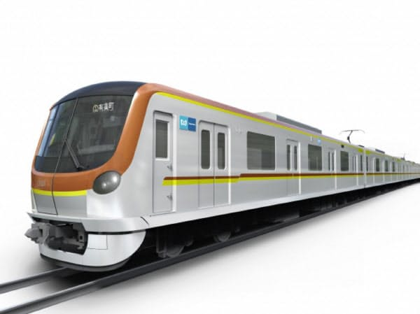 有楽町線と副都心線に導入する新型車両(イメージ)