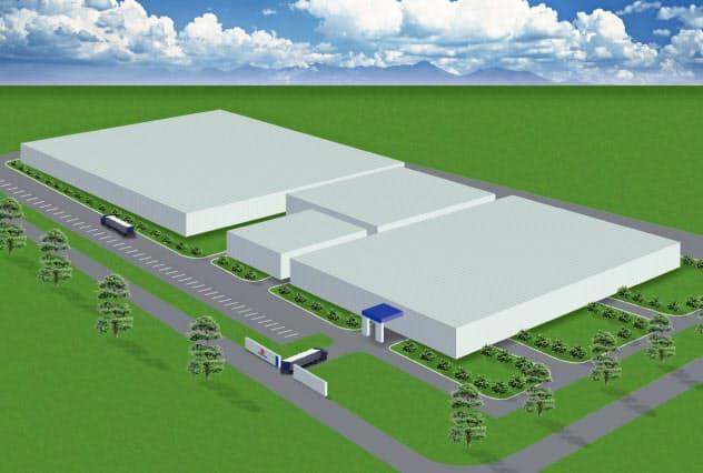 豊田合成はベトナムに工場を増設し、エアバッグ部品を増産する(拡張後のイメージ)