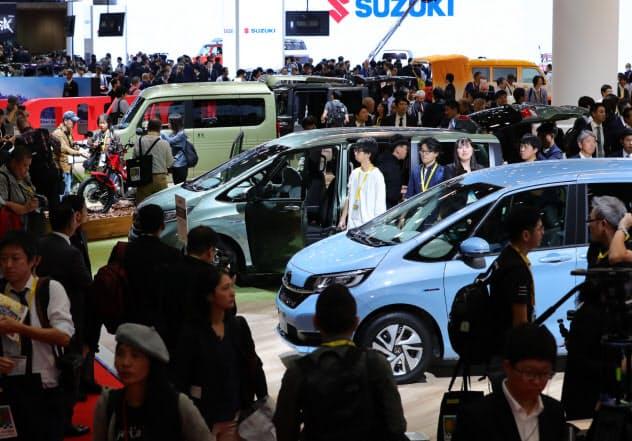 報道向けに公開された東京モーターショー2019(10月23日午前、東京都江東区)
