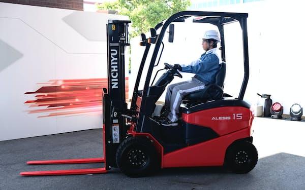 三菱ロジスネクストは新型フォークリフト「ALESIS(アレシス)」の販売を始めた