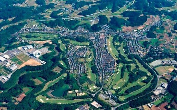 東急不動産が手掛ける一般住宅地とゴルフ場の複合開発地「季美の森」(千葉県大網白里市)