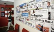 資金繰りが悪化している米新聞大手マクラッチーの事務所=ロイター