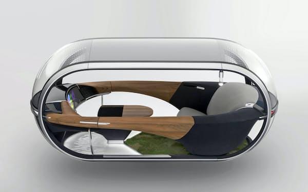 旭化成は未来の車に使う素材を提案する(車内空間のコンセプトモデル)