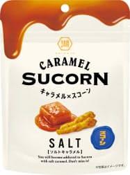 湖池屋の塩をきかせたキャラメル味の「キャラメル×スコーン ソルトキャラメル」
