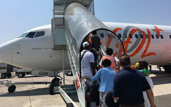 ゴルはブラジル国内線中心で、国際線が弱い(サンパウロ、17年9月)