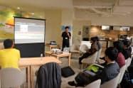 瀬戸内の起業家支援施設の交流が始まった(9日、高松市)