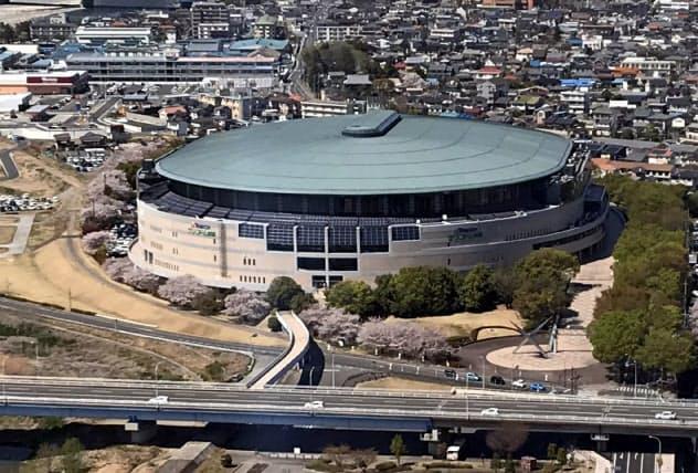 前橋市はヤマダグリーンドーム前橋で実施している競輪事業を2020年度から民間委託する(4月、前橋市)