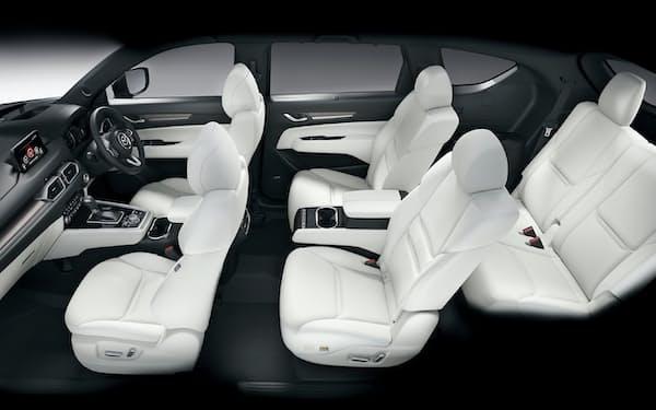 トヨタ紡織の自動車シート部品が採用されたマツダの「CX-8」