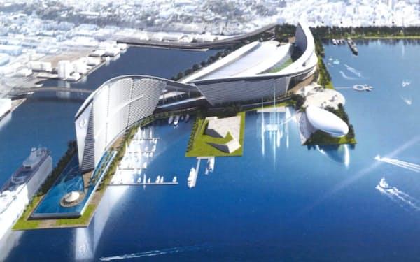 IR事業者が横浜市に提出した施設イメージの一例(事業者名は非公表)