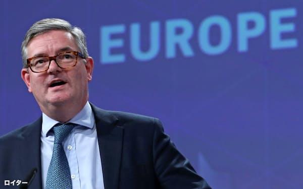 現在の欧州委員会でセキュリティーを担当する英国出身のキング欧州委員=ロイター