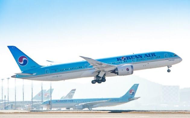 国内最大手の大韓航空も最終赤字に転落した=同社提供