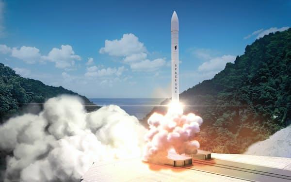 和歌山県のロケット発射場「スペースポート紀伊」からのロケット発射イメージ=スペースワン提供