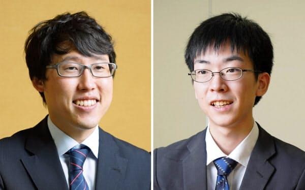 井山裕太王座(左)と芝野虎丸名人