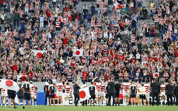 日本のラグビー界ではW杯の追い風を受けてトップリーグのプロ化構想が進む=共同