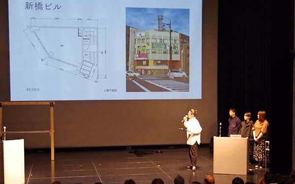 福井市のイベント「DRF」でリノベーション案を提示する参加者(福井市の響のホール)