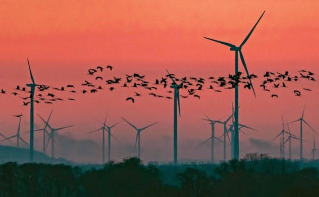 ドイツの2019年1~9月の風力設備の建設ペースは過去5年間の平均を80%以上下回った=AP