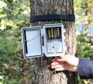通信の消費電力を抑え、乾電池4本で3カ月以上稼働するようにした