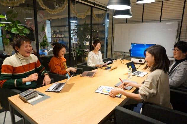 これまで打ち合わせにはテレビ電話などを活用していた(京都市内にあるテクロスのオフィス)