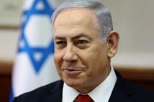 イスラエルのネタニヤフ首相(10月、エルサレム)=ロイター