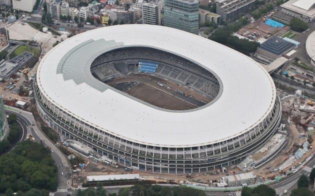 11月30日に完成予定の新国立競技場