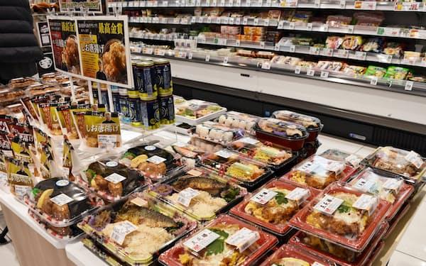 ドラッグストアで弁当や総菜を販売している(名古屋市千種区)