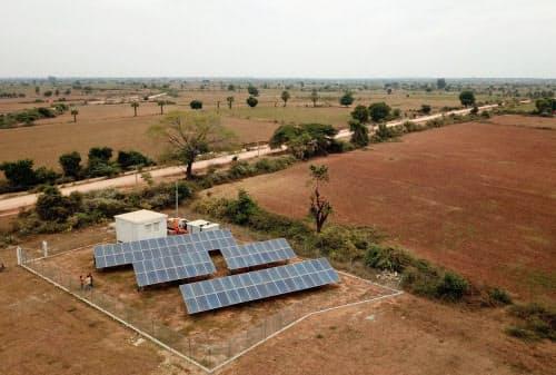 ヨマが始めたミャンマー農村の太陽光発電にアヤラが参画する(ヨマ提供)