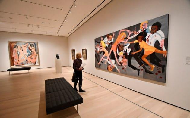 ピカソの「アヴィニョンの娘たち」と米国人黒人女性アーティストの作品が一緒に展示されるようになった新MoMA