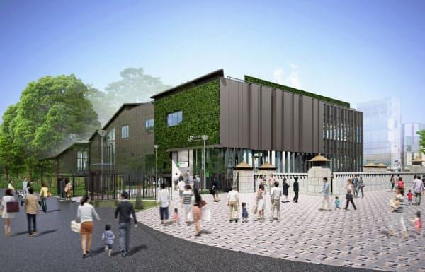 山手線原宿駅の新駅舎のイメージ(JR東日本提供)