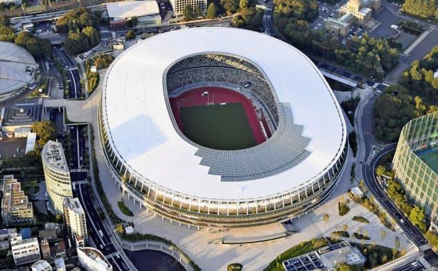 新国立競技場(9月)=共同