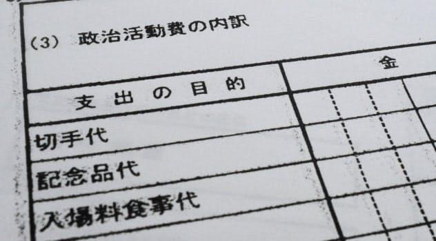 政治資金収支報告書