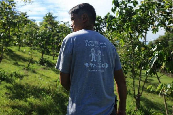 有機でコナコーヒーを栽培する「村松小農園」の村松由希夫さん