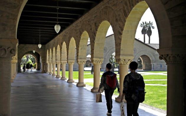 米カリフォルニア州のスタンフォード大キャンパス=AP