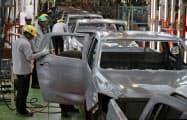 いすゞ自動車のタイの自動車工場(10月、タイ東部チャチュンサオ県)=石井理恵撮影