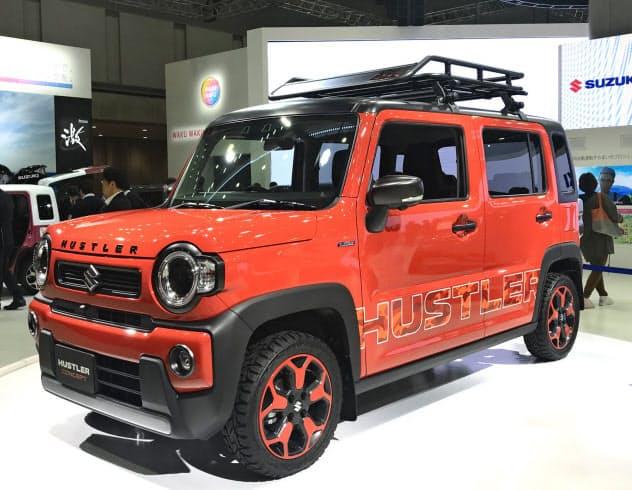 東京モーターショーで披露したコンセプト車が新型ハスラーのベースになる(10月24日)