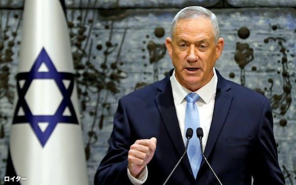 イスラエルの中道野党連合「青と白」のガンツ元軍参謀総長=ロイター