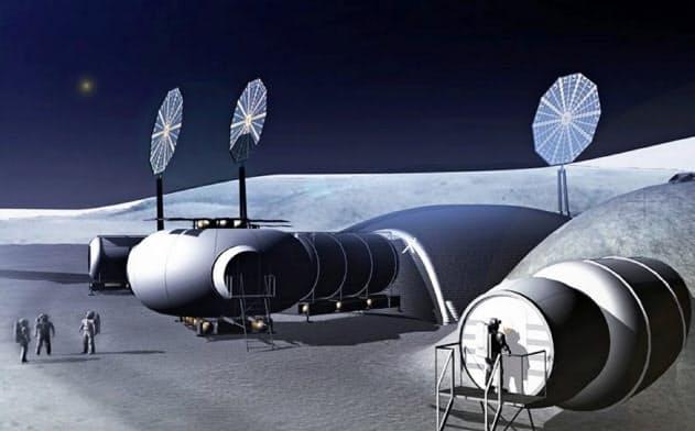 月に人類が定住する未来を想定している(Moon Village Association提供)