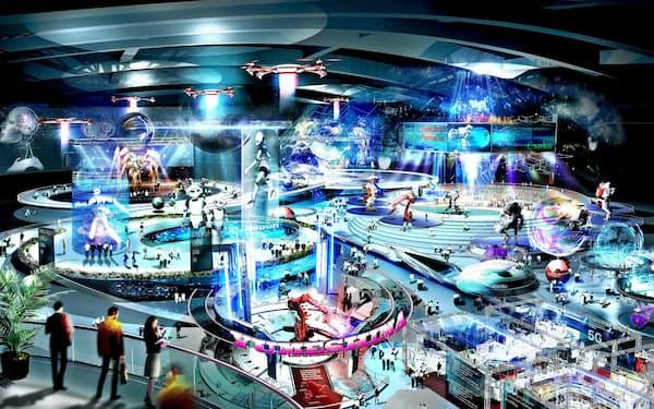 25年万博前の開業を目指すIR施設のイメージ(大阪府・市提供)