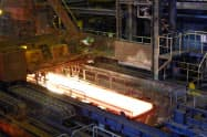 輸出向けの減少が続いている(日本製鉄の鹿島製鉄所)
