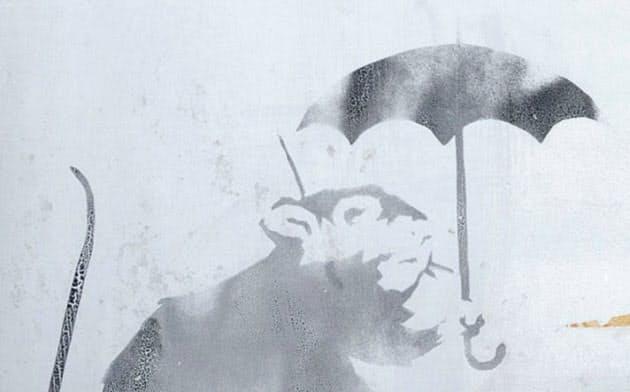 防潮扉に描かれたネズミの絵(東京都提供)