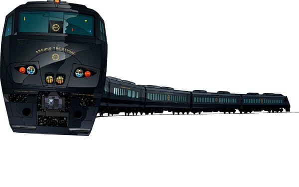 列車全体を黒色に塗装する(イメージ)