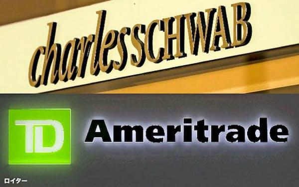 米インターネット証券大手チャールズ・シュワブが米同業のTDアメリトレード・ホールディングスの買収を検討している=ロイター