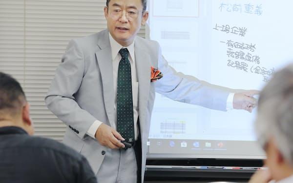 企業会計の分析結果は私塾「複式簿記研究会セミナー」で会員に毎月説明している