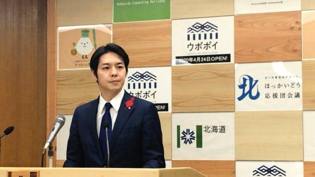 北海道の鈴木直道知事は22日の記者会見でもIRに関する踏み込んだ発言はなかった