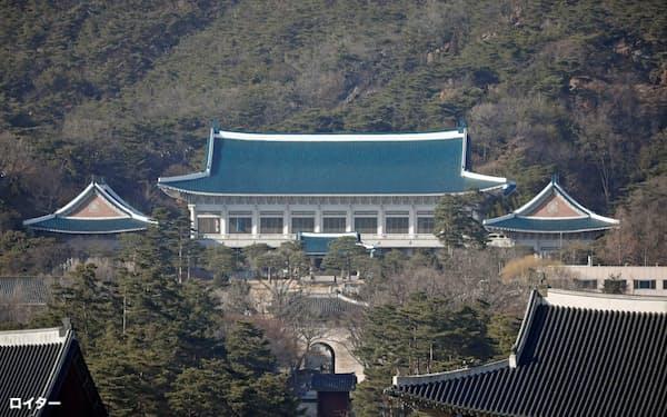 韓国大統領府がある青瓦台=ロイター