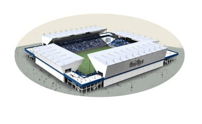 J2水戸が示した新スタジアムのイメージ((C)MITO HOLLYHOCK)