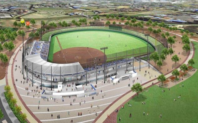 2020年4月にオープン予定の野球場(完成イメージ図)