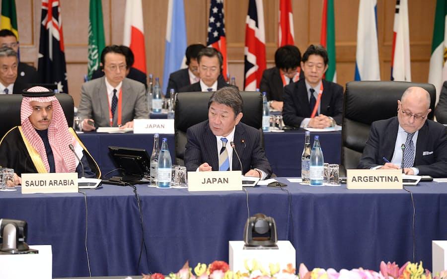 G20外相が全体会合 WTO改革の必要性共有: 日本経済新聞