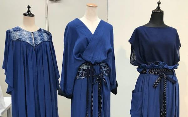 ビームスは久留米絣とコラボした衣料を開発し、「CATHRI」ブランドで販売する