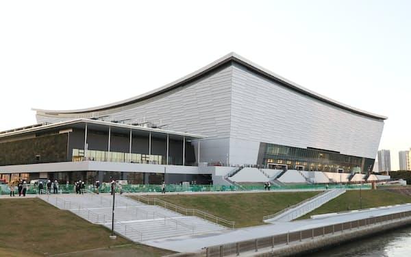 五輪後はコンサート会場としての利用が多くなる見込みの有明アリーナ(21日、東京・江東)