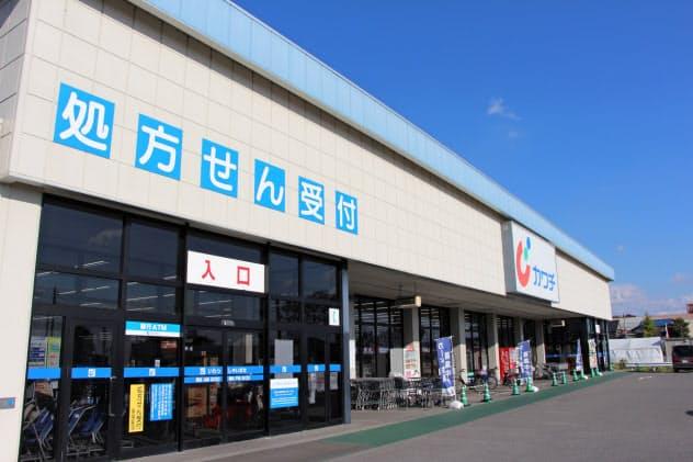 調剤薬局の併設店は全体の3分の1にまで増えた(宇都宮市内の店舗)